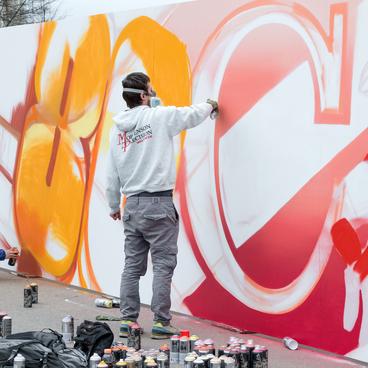 Der Street Art Künstler
